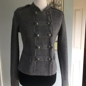 {Anne Taylor} military style sweater sz S